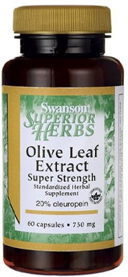 Swanson Olive Leaf Extract 750MG Super Strength (60 Caps)
