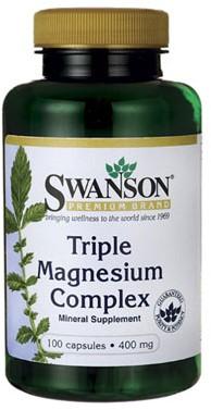 Swanson Triple Magnesium Complex 400MG (100 Caps)
