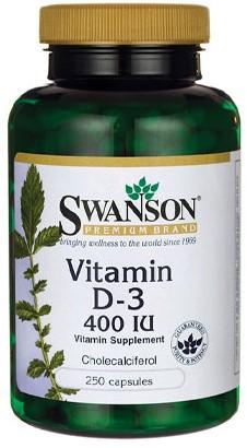 Swanson Vitamin D3 400 IU (250 Caps)