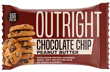 MTS Outright Bar Chocolate Chip Peanut Butter (12 x 60 gr) Ten minste houdbaar tot 18-11-2020!