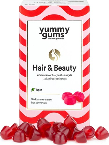 Yummygums Hair & Beauty Framboos (60 gummies)