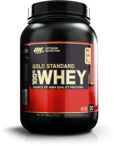 Gold Standard 100% Whey Strawberry (908 gr)