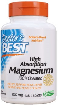 100% Chelated Magnesium 100mg (120 tabs)