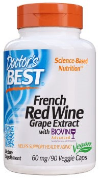 French Red Wine Extract 60mg (90 caps)