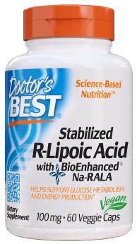 Stabilized R-Lipoic Acid 100mg (60 caps)