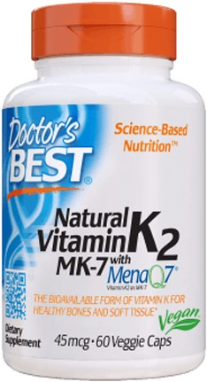 Natural Vitamin K2 MenaQ7 (60 caps)