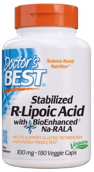 Stabilized R-Lipoic Acid 100mg (180 caps)