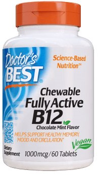 Quick Melt Active B12 1000mcg (60 tabs)