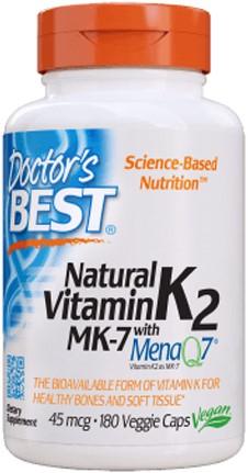 Natural Vitamin K2 MenaQ7 (180 caps)