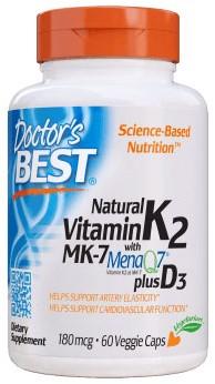 Natural K2 MenaQ7 Plus D3 (60 caps)