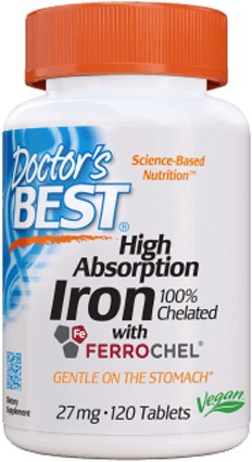 Iron Chelated (120 tabs)