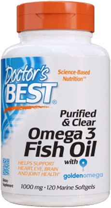 Purified & Clear Omega3 Fish Oil (120 softgels)