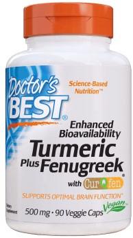 Tumeric + Fenugreek 500mg (90 caps)
