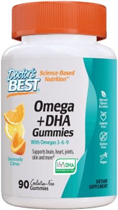 Omega3 + DHA gummies Citrus (90 gummies)