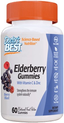 Elderberry, Vit C & Zinc gummies Berry Blast (60 gummies)