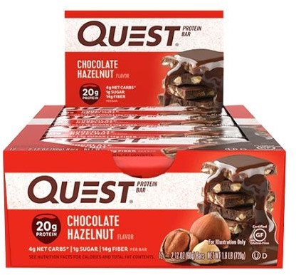 Quest Bar Chocolate Hazelnut (12 x 60 gr) Ten minste houdbaar 09-02-21