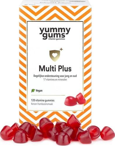Yummygums Multi Plus Kersen-Framboos (120 gummies)