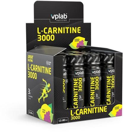 VPLab L-Carnitine 3000 Shots Citrus Grape (12 x 80 ml)