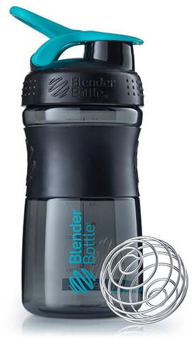 BlenderBottle Sportmixer Black/Teal (590 ml)
