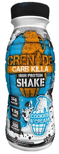 Carb Killa Shake Cookies & Cream (1 x 330 ml) Ten minste houdbaar tot: 1-2021