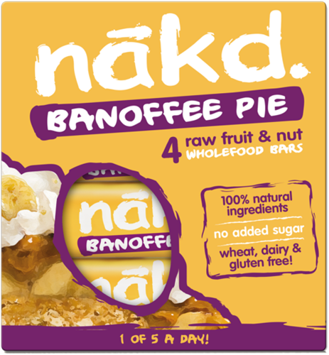 Nakd Bars Banoffee Pie (4 x 35 gr)