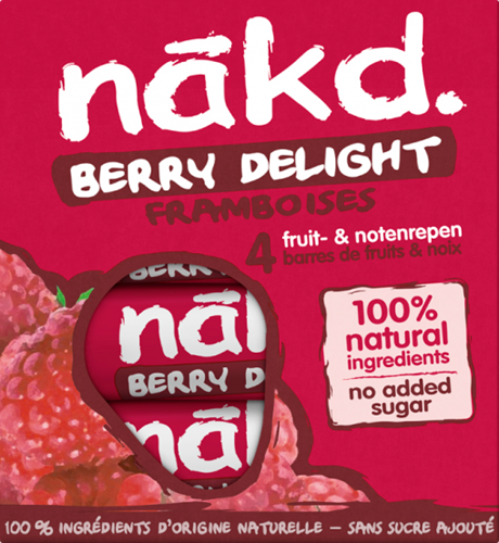 Nakd Bars Berry Delight (4 x 35 gr)
