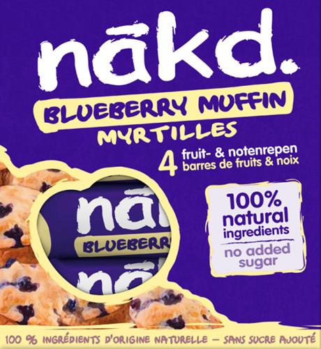 Nakd Bars Blueberry Muffin (4 x 35 gr)