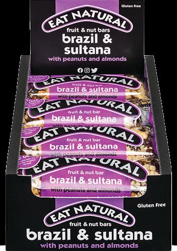 Eat Natural Fruit & Nut Bar Brazil & Sultana (12 x 50 gr)