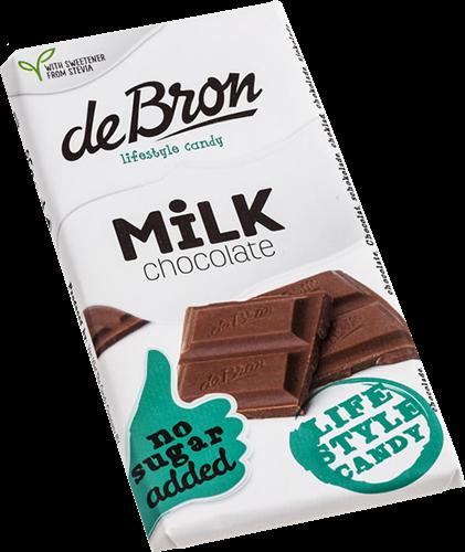 De Bron Suikervrije Chocola Milk Chocolate (85 gr)