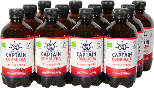 Captain Kombucha Cayenne Pepper (12 x 400 ml)