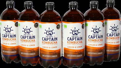 Captain Kombucha Ginger Lemon (6 x 1000 ml)