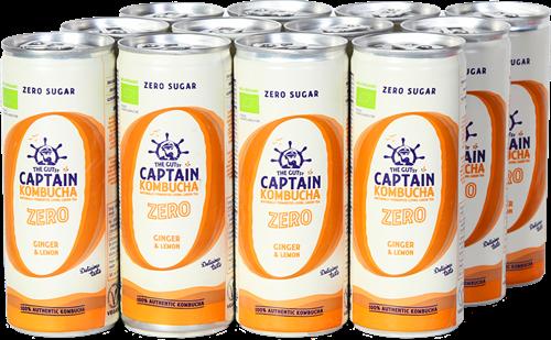 Captain Kombucha Zero Ginger Lemon (12 x 250 ml)