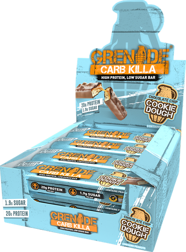 Carb Killa Bar Chocolate Chip Cookie Dough (12 x 60 gr)