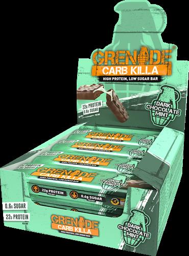 Carb Killa Bar Dark Chocolate Mint (12 x 60 gr)