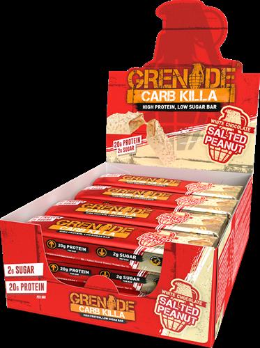 Carb Killa Bar White Chocolate Salted Peanuts (12 x 60 gr)