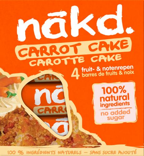 Nakd Bars Carrot Cake (4 x 35 gr)