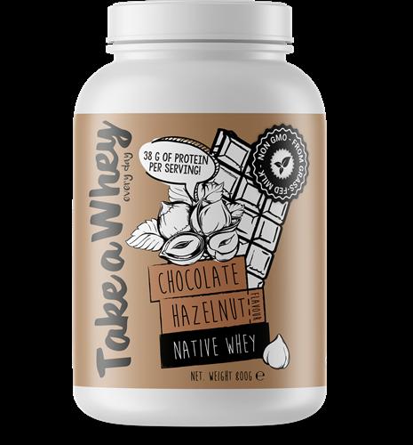 Take-a-whey Native Whey Chocolate Hazelnut (800 gr)