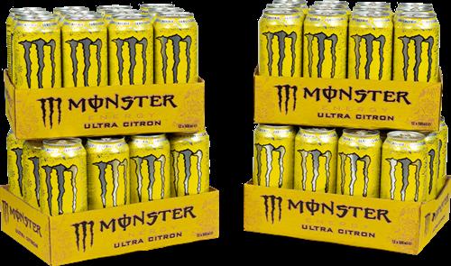 Monster Energy Ultra Citron 4 Pack (48 x 500 ml)
