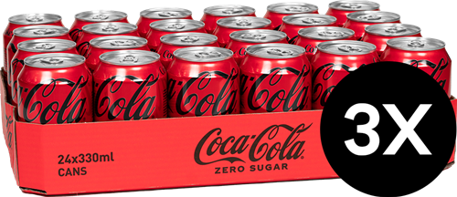 Coca-Cola Zero Original 3 Pack (72 x 330 ml)