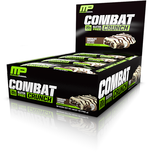 Combat Crunch Bars Chocolate Coconut (12 x 63 gr)
