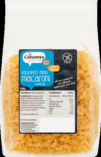 Consenza Gluten Free Volkoren Mais Macaroni (500 gr)