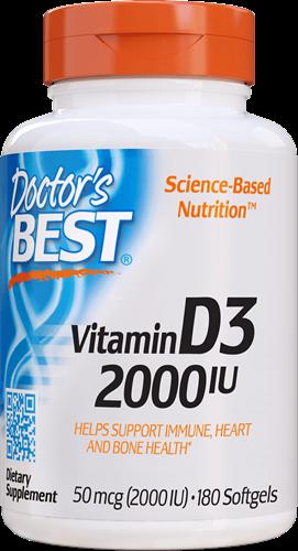 Vitamin D3 2000IU (180 softgels)