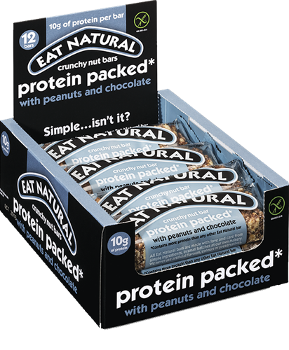 Eat Natural Protein Packed Bar Peanut Chocolate (12 x 45 gr)