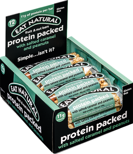 Eat Natural Protein Packed Bar Salted Caramel Peanut (12 x 45 gr)