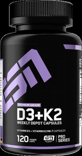 ESN Vitamin D3+K2 (120 caps)