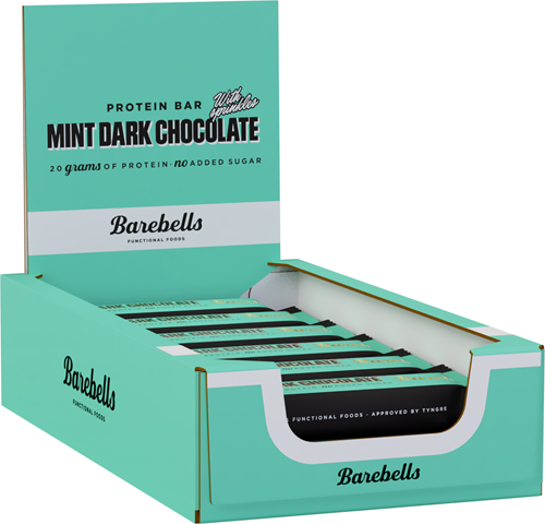 Barebells Protein Bar Mint Dark Chocolate (12 x 55 gr)