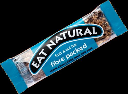 Eat Natural Fruit & Nut Bar Fibre Packed Dark Chocolate Sea Salt (12 x 45 gr)
