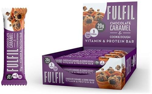 Fulfil Vitamin & Protein Bar Chocolate Caramel & Cookie Dough (15 x 55 gr)