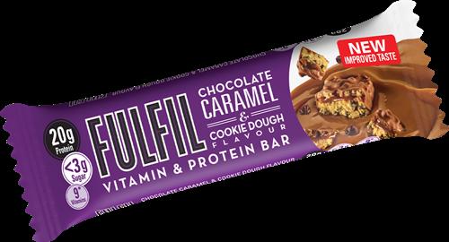 Fulfil Vitamin & Protein Bar Chocolate Caramel & Cookie Dough (1 x 55 gr)