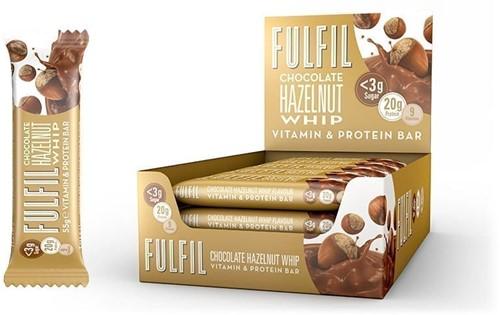 Fulfil Vitamin & Protein Bar Chocolate Hazelnut Whip (15 x 55 gr)